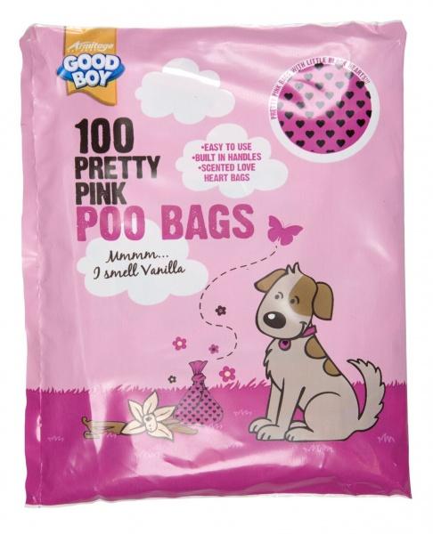 Bilde av 100 Pretty Pink Hundeposer M/duft