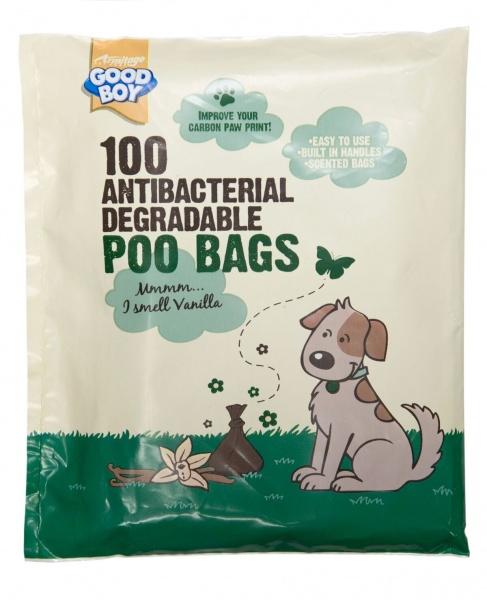 Bilde av 100 Antibac Nedbrytbare Hundeposer M/duft