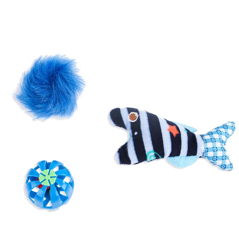 Bilde av 3pk Blå Småleker Til Katt