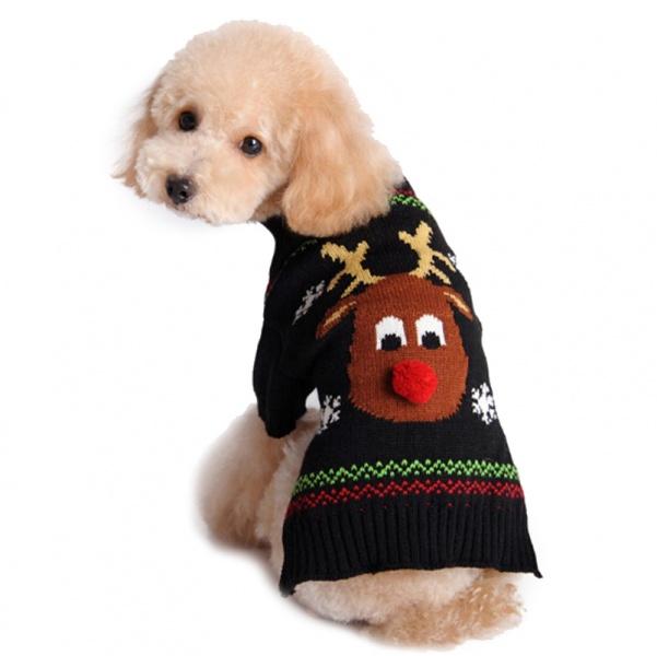 Hundegenser: Julegenser til hund med reinsdyr I Love Dogs.no