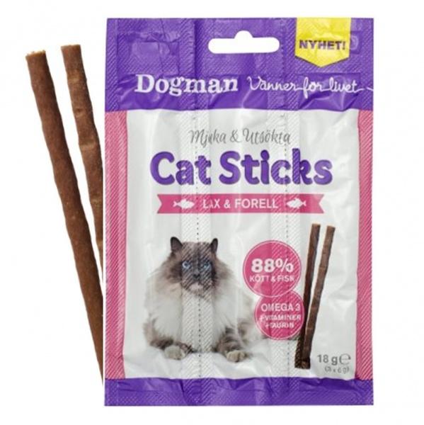 Bilde av 3pk Cat Sticks Til Katt Med Laks&Ørret