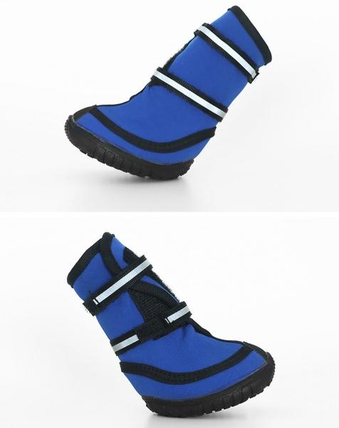 Hundesko: Solide myke sko med gummisåle 4pk I Love Dogs.no